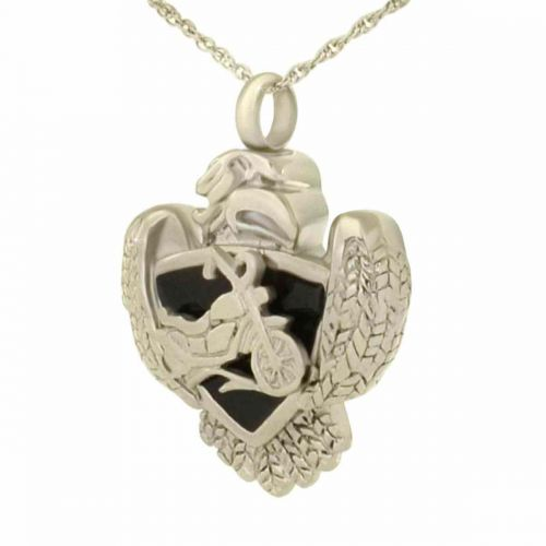 Eagle Shield Keepsake Cremation Pendant Jewelry -  - 97872