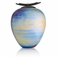 Earth Monument Raku Cremation Urn