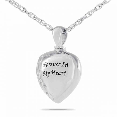 Forever In My Heart Steel Keepsake Cremation Jewelry -  - 21063