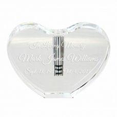 Glass Heart Treasured Keepsake Urn