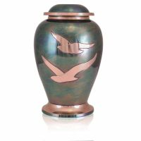 Gleaming Dove Brass Cremation Urn