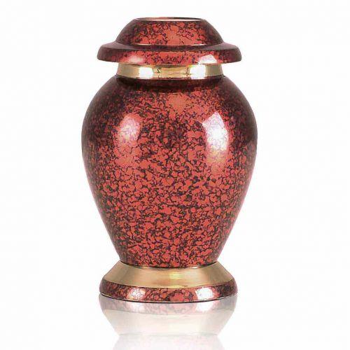 Gleaming Red Brass Keepsake Cremation Urn -  - 20392