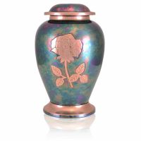 Gleaming Rose Brass Cremation Urn