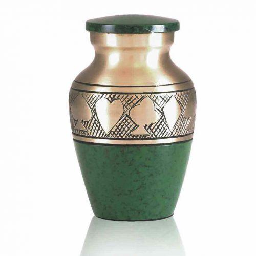 Green Poker Brass Keepsake Cremation Urn -  - 60092