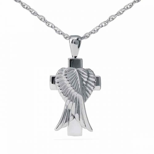 Heaven s Wings Pendant Cremation Chamber Jewelry Necklace -  - 44372