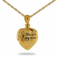 Immortal Love Gold Keepsake Cremation Chamber Jewelry Necklace