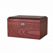 Locking Dark Wood Cremation Urn