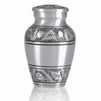 Maple Leaf Pewter Brass Keepsake Cremation Urn