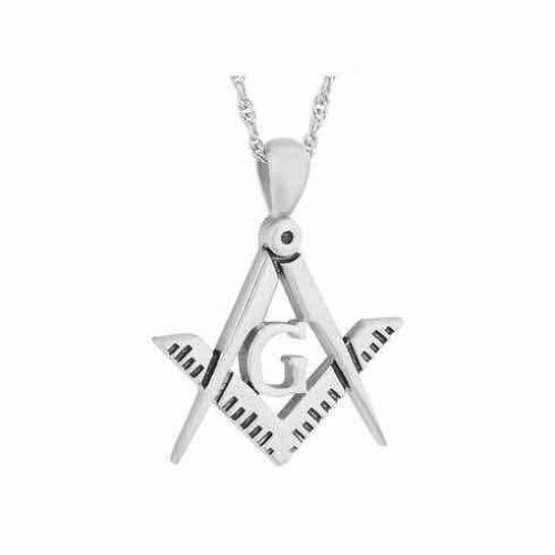 Masonic Steel Keepsake Cremation Chamber Pendant Jewelry -  - 33152