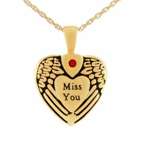 Miss You Gold Pendant Cremation Jewelry Necklace -  - 21043