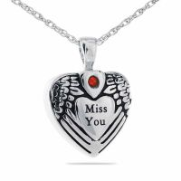 Miss You Pendant Cremation Chamber Jewelry Necklace