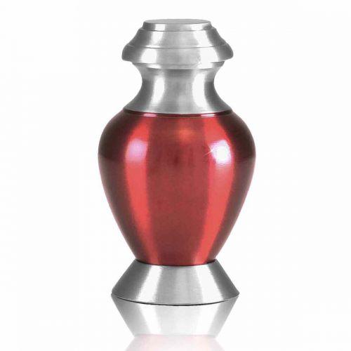 Modern Red Brass Keepsake Cremation Urn -  - 80036