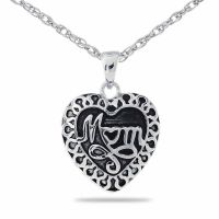 Mom Steel Pendant Cremation Chamber Jewelry Necklace