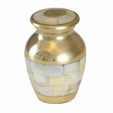 Mother of Pearl Keepsake Jewelry Cremation Urn