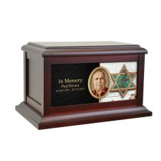 Star Of David Life Treasured Urn