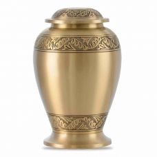 Pershing Feather Brass Cremation Urn