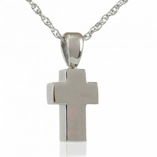 Petite Silver Cross Keepsake Cremation Jewelry -  - 80054