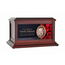 Red Rose Life Treasured Urn