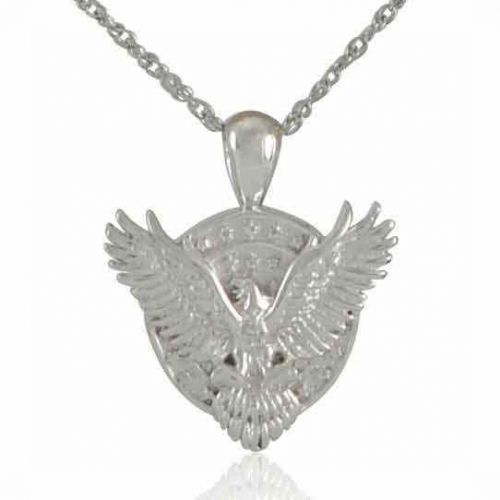 Roosevelt Silver Keepsake Pendant Cremation Jewelry Necklace -  - 77225