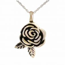 Rose Steel Pendant Cremation Jewelry Necklace