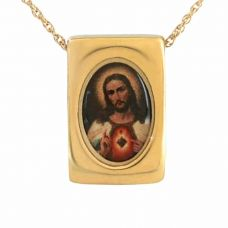 Sacred Heart of Jesus Keepsake Cremation Chamber Jewelry