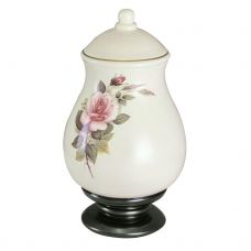 Serena Pink Rose Ceramic Cremation Urn