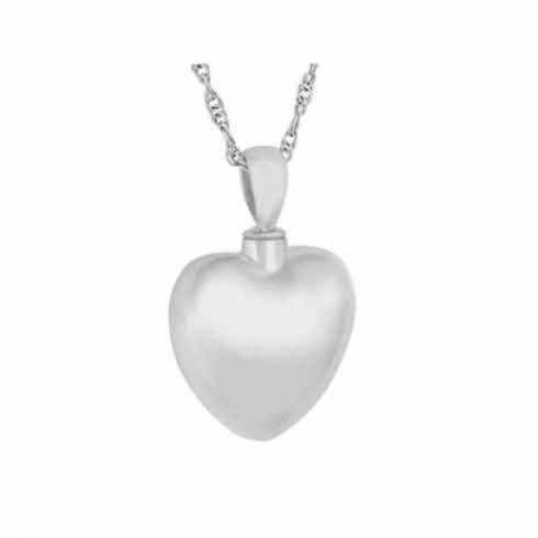 Cremation Memorial Jewelry Silver Heart Love Keepsake Pendant