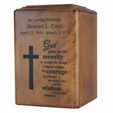 Spiritual Wooden Cremation Urn