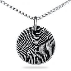 Sterling Silver Round - Any Print, Engraving