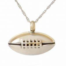 Steel Football Pendant Cremation Urn