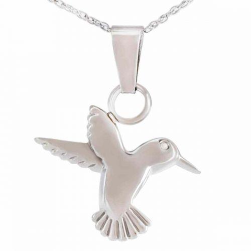 Steel Hummingbird Pendant Cremation Urn -  - 40013